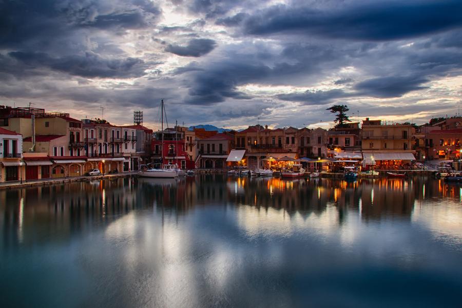 The Venetian city of Rethymnon, Crete.